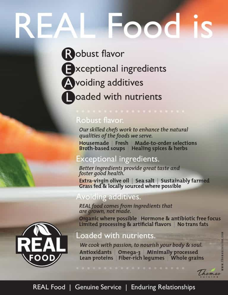 REAL Food at Thomas Cuisine Healthcare Foodservice