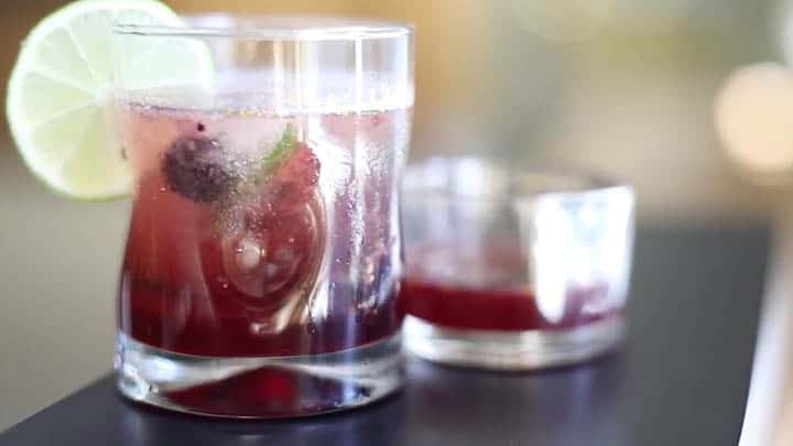 Blackberry-Fig Sparkling Beverage by Thomas Cuisine foodservice nutritionists