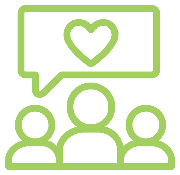 Group People Heart Icon