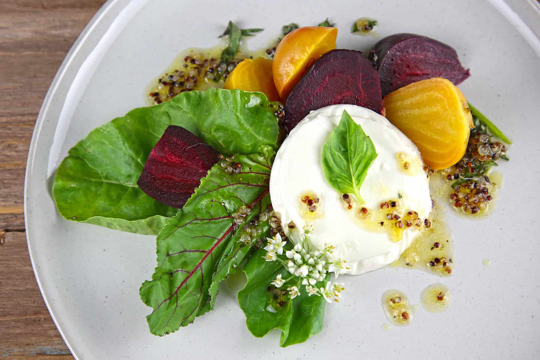 Fresh Mozzarella and Beet & Basil Salad