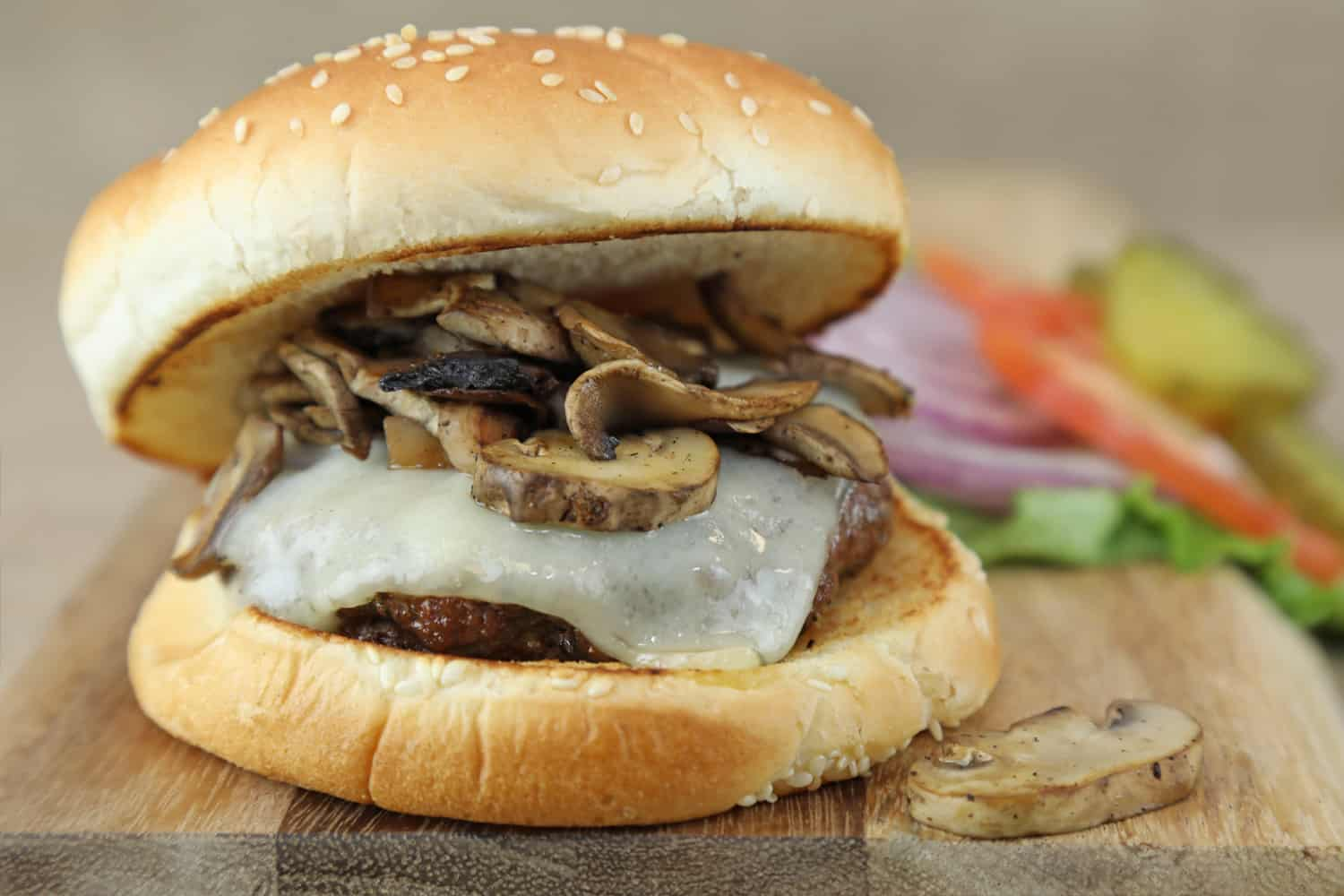 Mushroom Swiss Burger - from the Grill