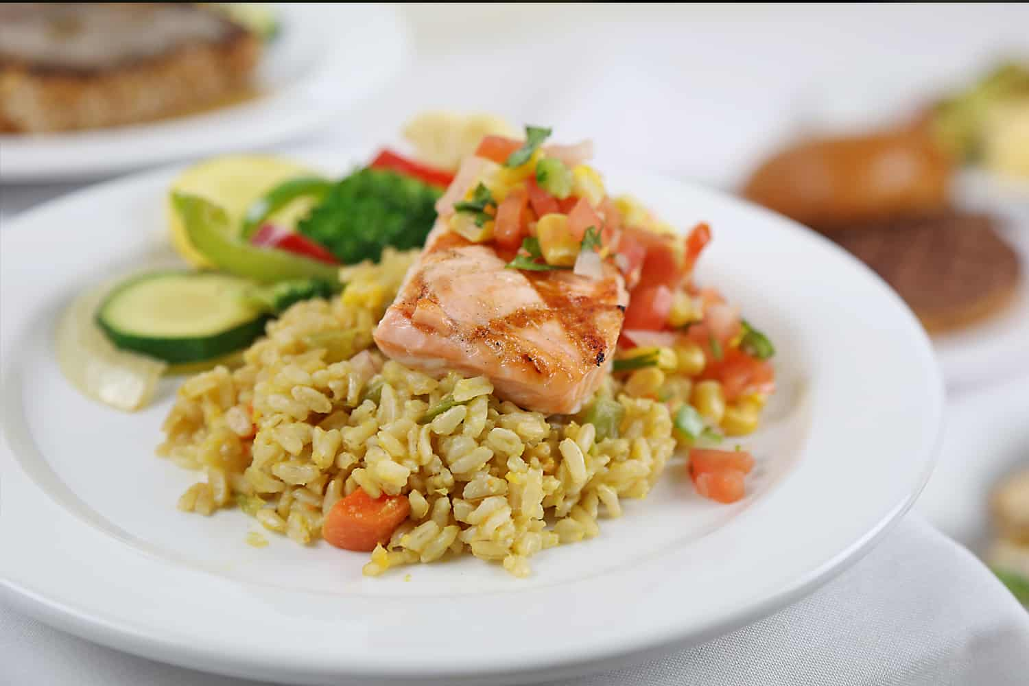 Fresh Salmon over Brown Rice Healthcare Food Service Management