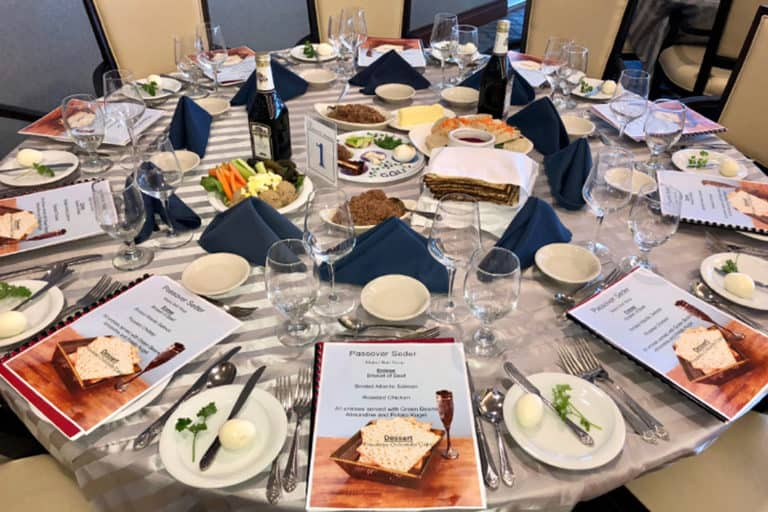 Passover Celebration Meal, Senior Living Food Service Dining