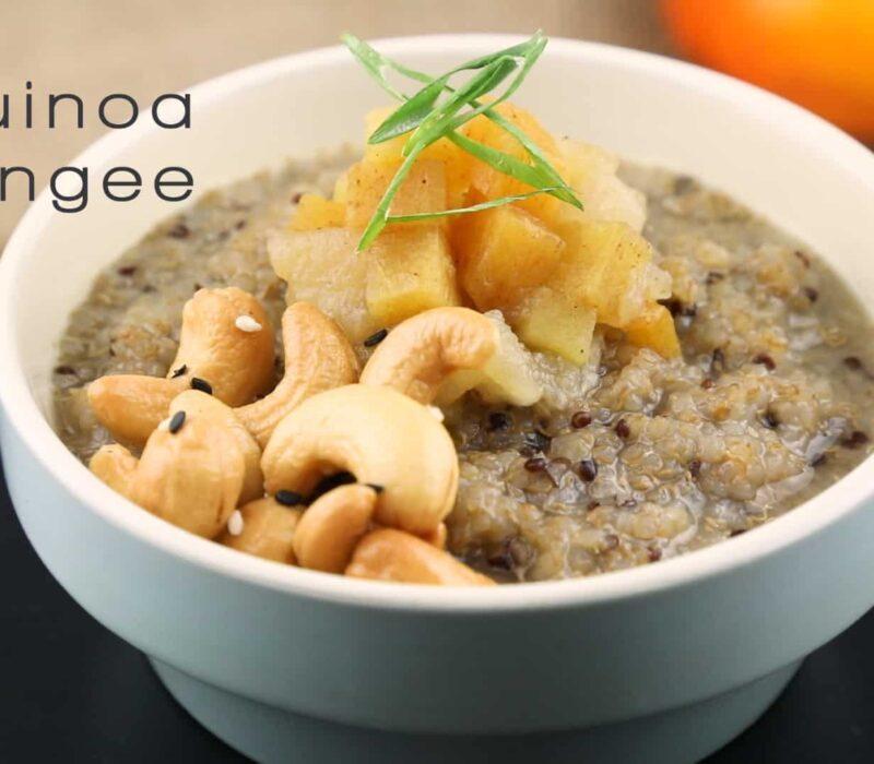 How to Make Persimmon Asian Pear Kombucha Congee