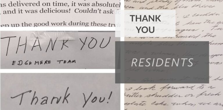 CCRC Food Service thank you notes