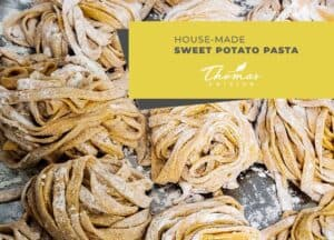 Home-Made Sweet Potato Pasta for Residents