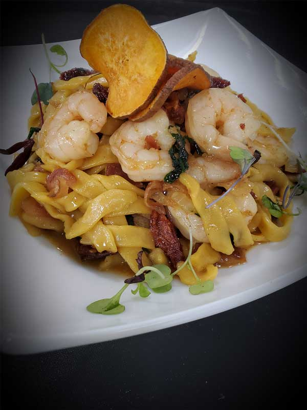 Handmade sweet potato pasta, Thomas Cuisine Food Service