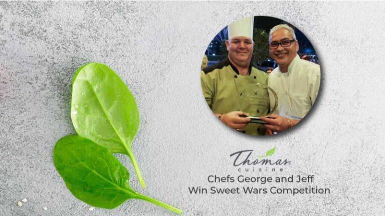 George Jeff Thomas Cuisine Sweet Wars Winner
