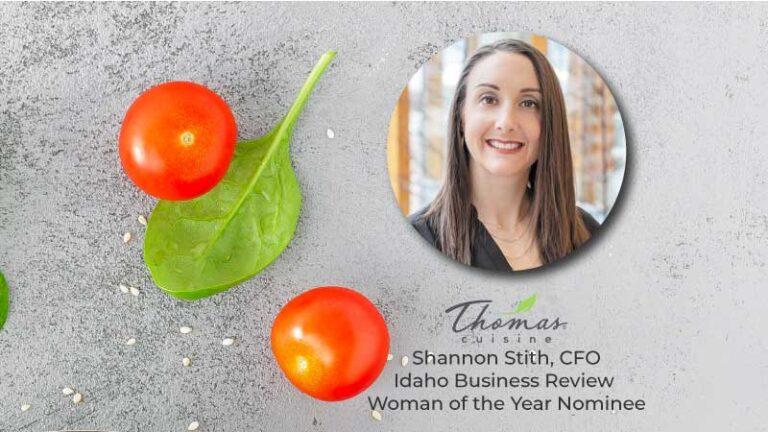 Thomas Cuisine Award Idaho CFO Shannon Stith