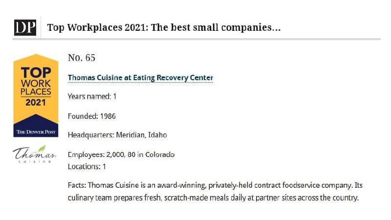Thomas Cuisine Best Small Companies Denver