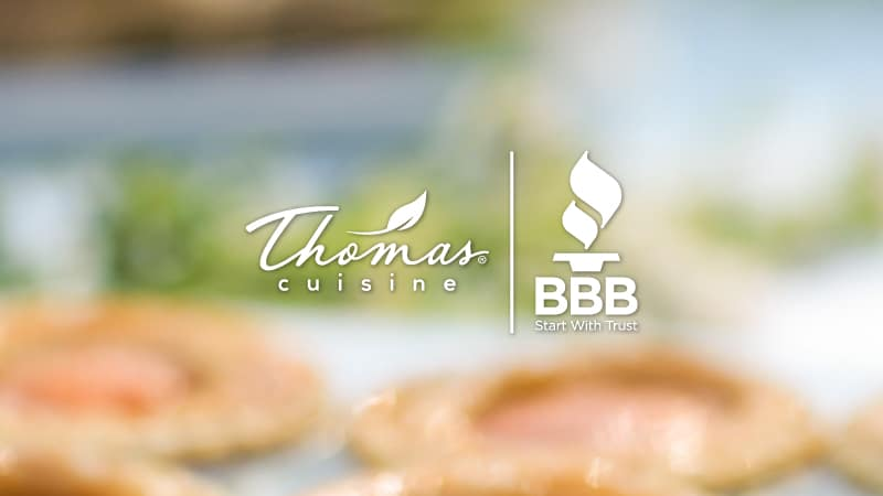 You are currently viewing Transparency and Foodservice – Thomas Cuisine Featured by The BBB
